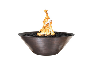 The Outdoor Plus Remi Copper Fire Bowl + Free Cover - The Fire Pit Collection