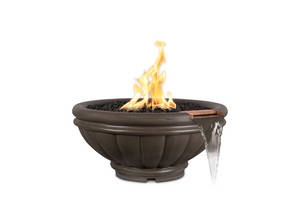 The Outdoor Plus Roma Concrete Fire & Water Bowl + Free Cover - The Fire Pit Collection