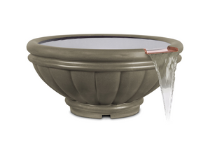 The Outdoor Plus Roma Concrete Water Bowl + Free Cover - The Fire Pit Collection