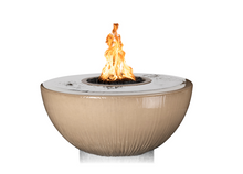 The Outdoor Plus Sedona 360° Concrete Fire & Water Bowl + Free Cover - The Fire Pit Collection
