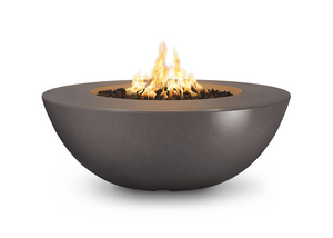 The Outdoor Plus Sedona Wide Lip Concrete Fire Pit + Free Cover - The Fire Pit Collection