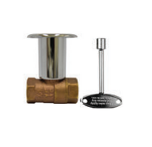 "The Outdoor Plus 1/2"" On/Off Straight Key Valve - The Fire Pit Collection"