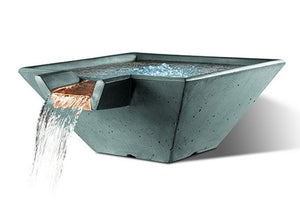 Slick Rock Concrete Cascade Square Water Bowl + Free Cover