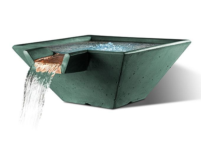 Slick Rock Concrete Cascade Square Water Bowl
