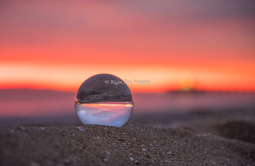 Balboa Sunset Crystal Ball