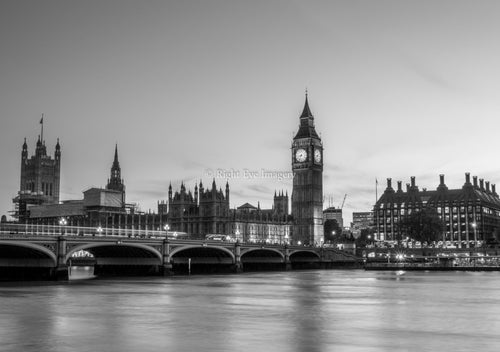 Big Ben At Rush Hour B&W