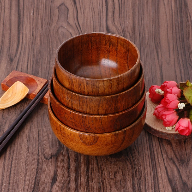 Natural Jujube Wooden Soup Bowl - Rubin Rings