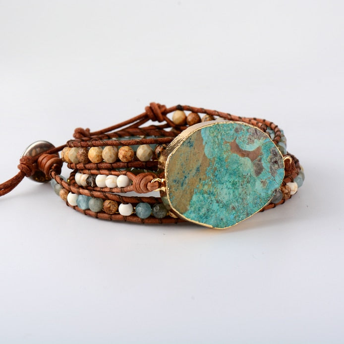 Unique Mixed Natural Stone Bracelet