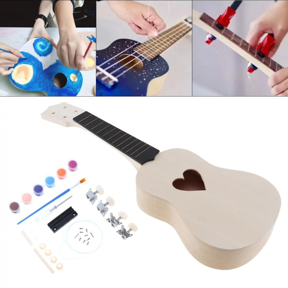 21 Inch DIY Ukulele incl. Colors & All Parts - Rubin Rings