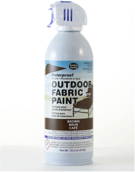 Simply Spray Outdoor Waterproof Fabric Spray Paint 13.3 Oz. Can Charcoal