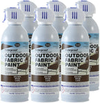 Simply Spray Outdoor Waterproof Fabric Spray Paint 13.3 Oz. Can 6 Pack Brown