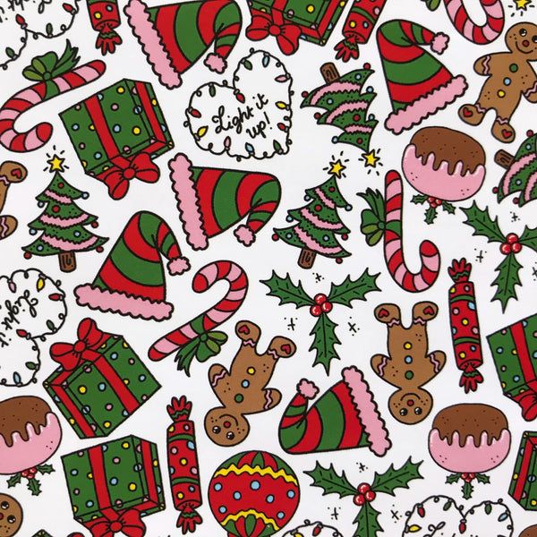 Tiny Christmas Icons Wrapping Paper