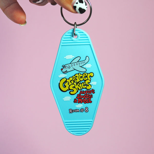Greater Skies Motel Keychain