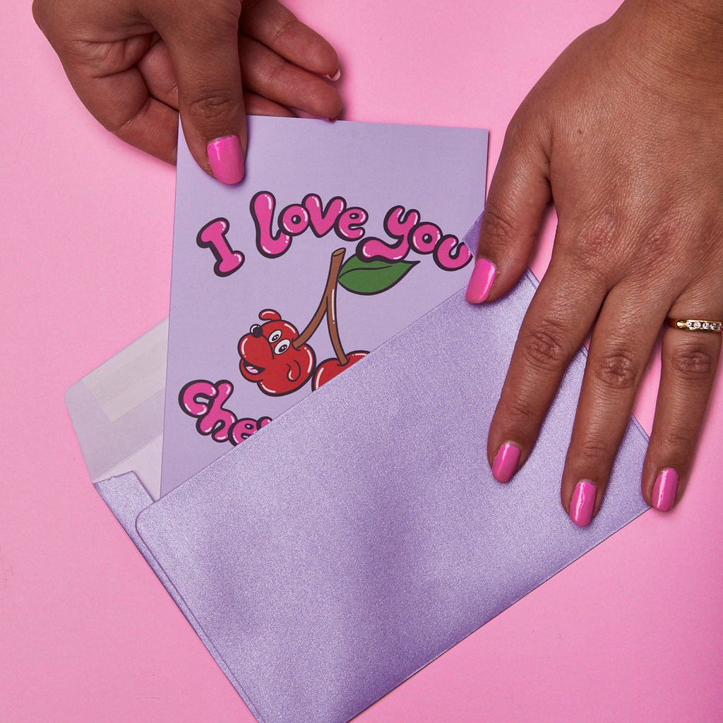 'I Love You Cherry Much' Greeting Card