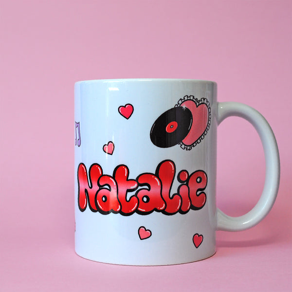 Romantic Bedroom Name Mug