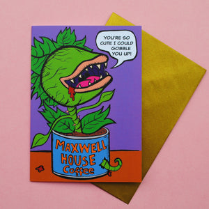 Audrey II Valentine's Day Card