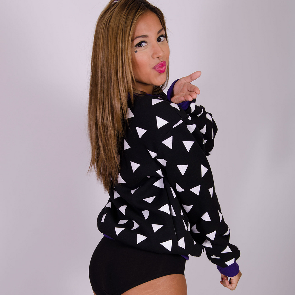 Triangle Sweatshirt Seconds - Black and White