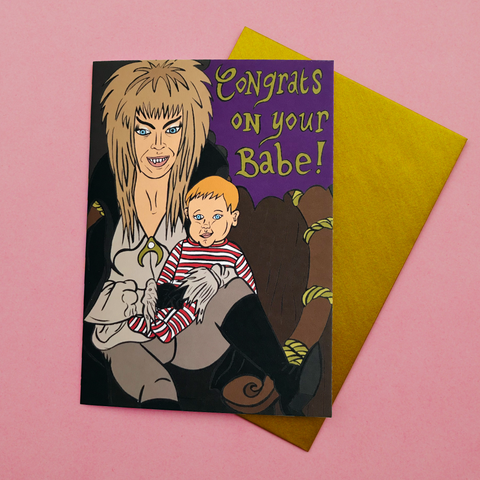 "Labyrinth ""Congrats on Your Babe!"" Card"