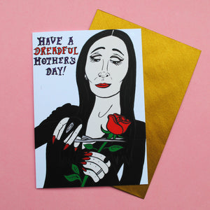 Morticia Addams Mother's Day Card