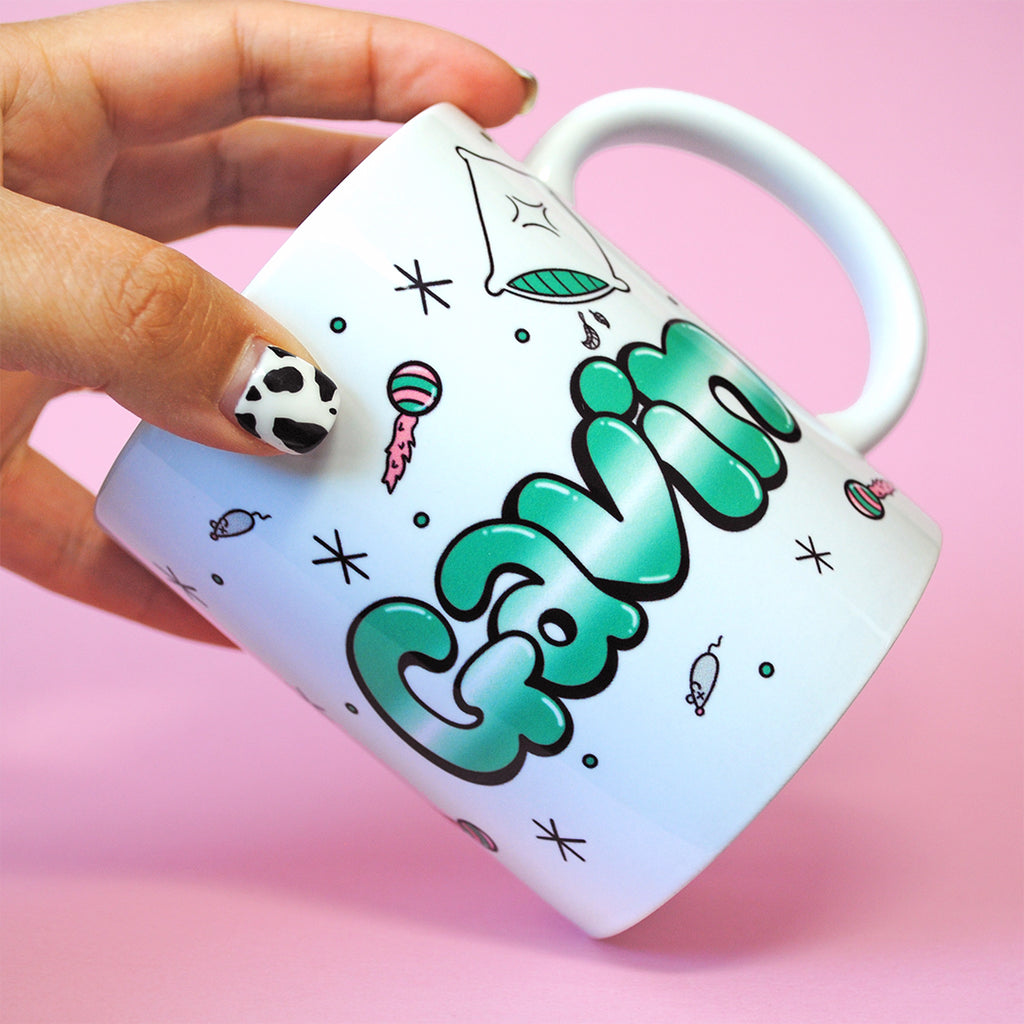 Sleepy Cat Name Mug
