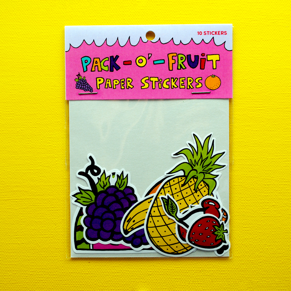 Pack-o-Fruit! Paper Stickers