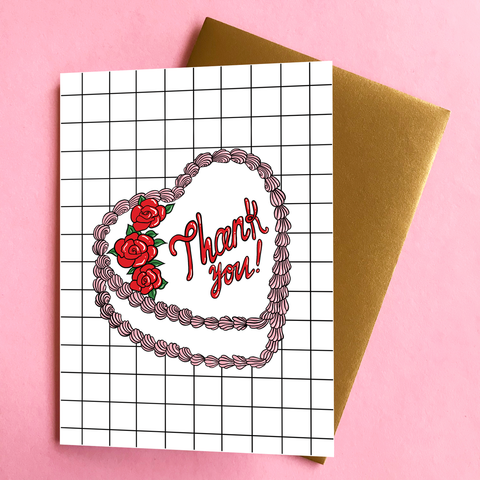 Thank You Cake Card