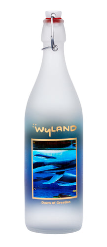 Wyland 'Dawn of Creation' Swing-Top Glass Art Bottle