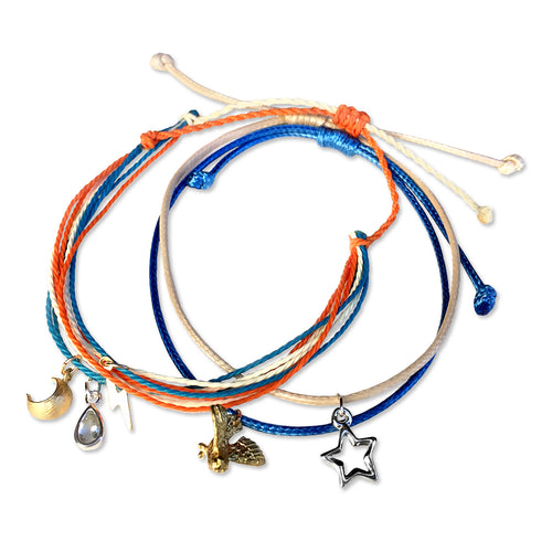 Stacked Pledge Bracelets - 'Air and Sky'