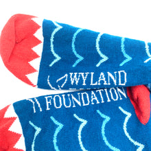 Load image into Gallery viewer, USA Made Cotton Jacquard Shark Socks - one size fits most!