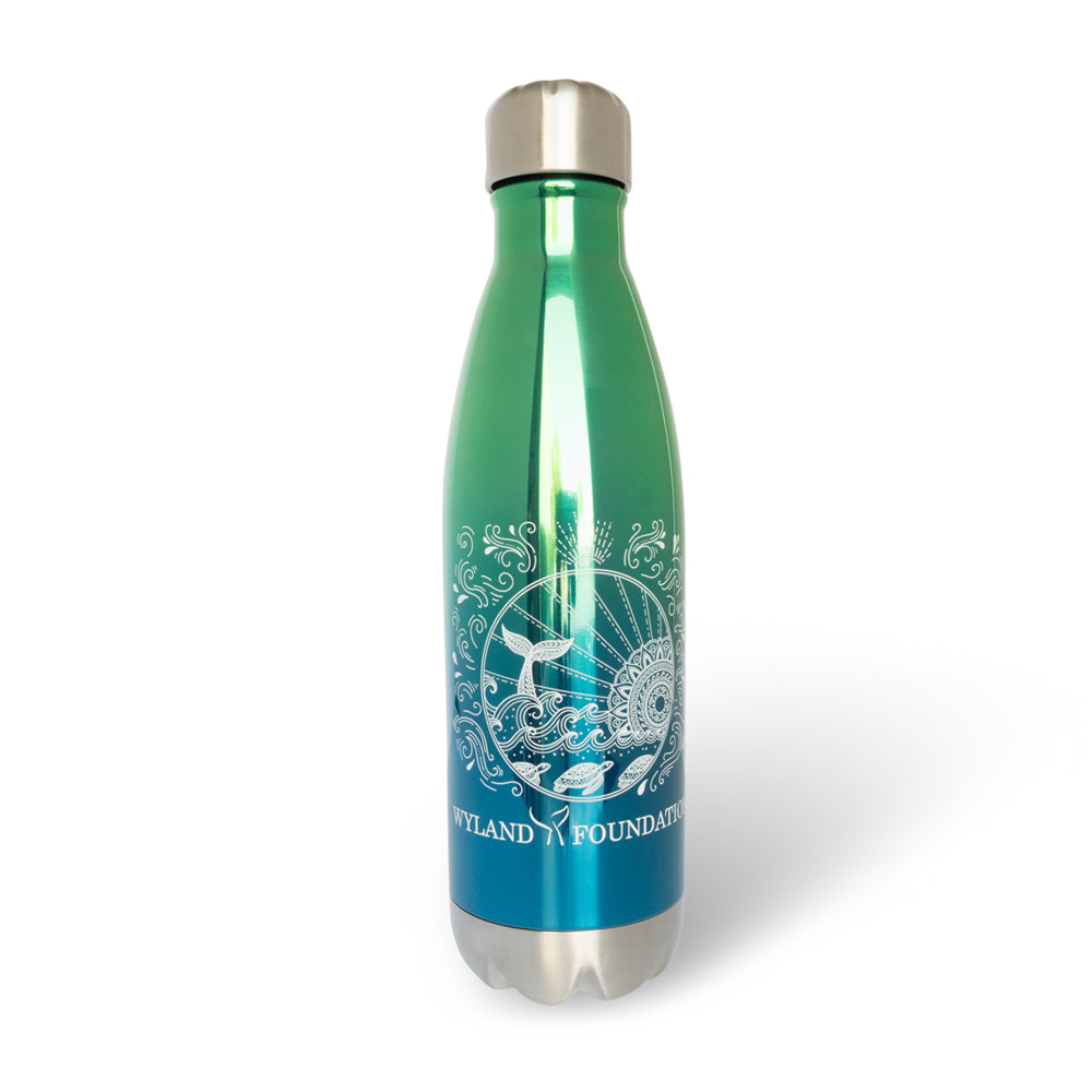 Whale Tail + Waves Ombre Travel Bottle