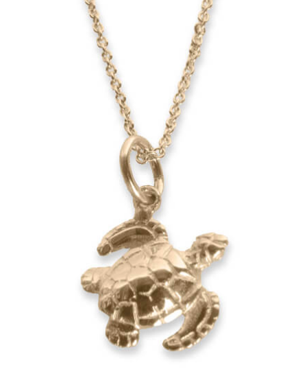 Gold Mini Sea Turtle Necklace