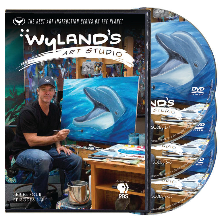 3 DVD Disk Set of Wyland's Art Studio Series 4