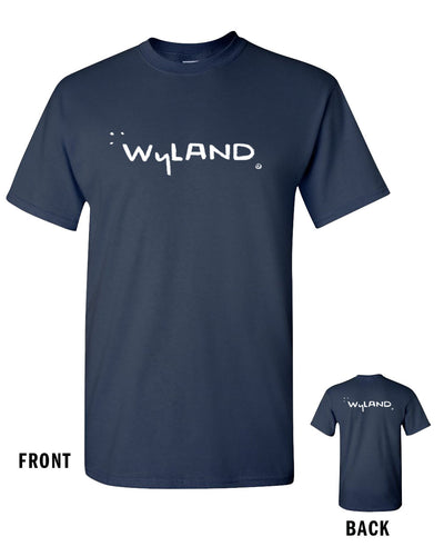 Wyland Signature Screened Classic Tee - Navy Blue