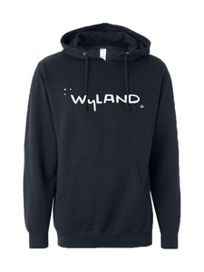 Signature Screened Pullover Hoodie with Pocket - Navy