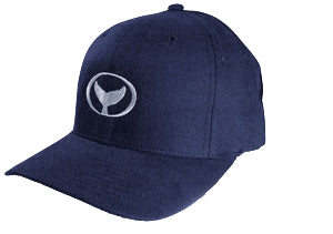 Classic Cap with Wyland's Iconic Embroidered Whale Tail - Blue