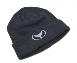 Classic Beanie with Wyland's Iconic Embroidered Whale Tail – Navy