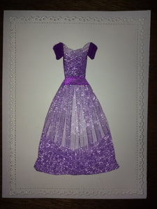 Ball Gown Dress Pattern Stamp