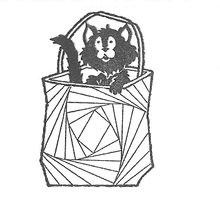 Load image into Gallery viewer, Iris Folding Cat in a Bag