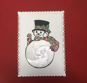 Iris Folding  Snowman with Top Hat