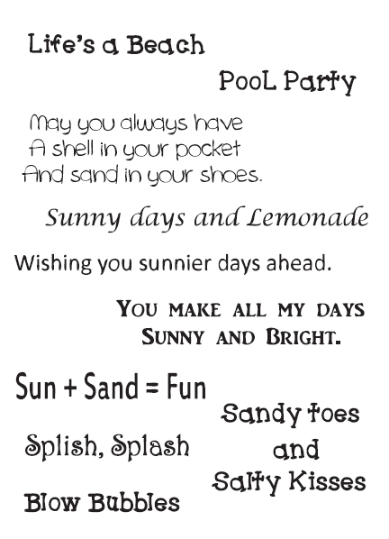 Summertime Sentiments