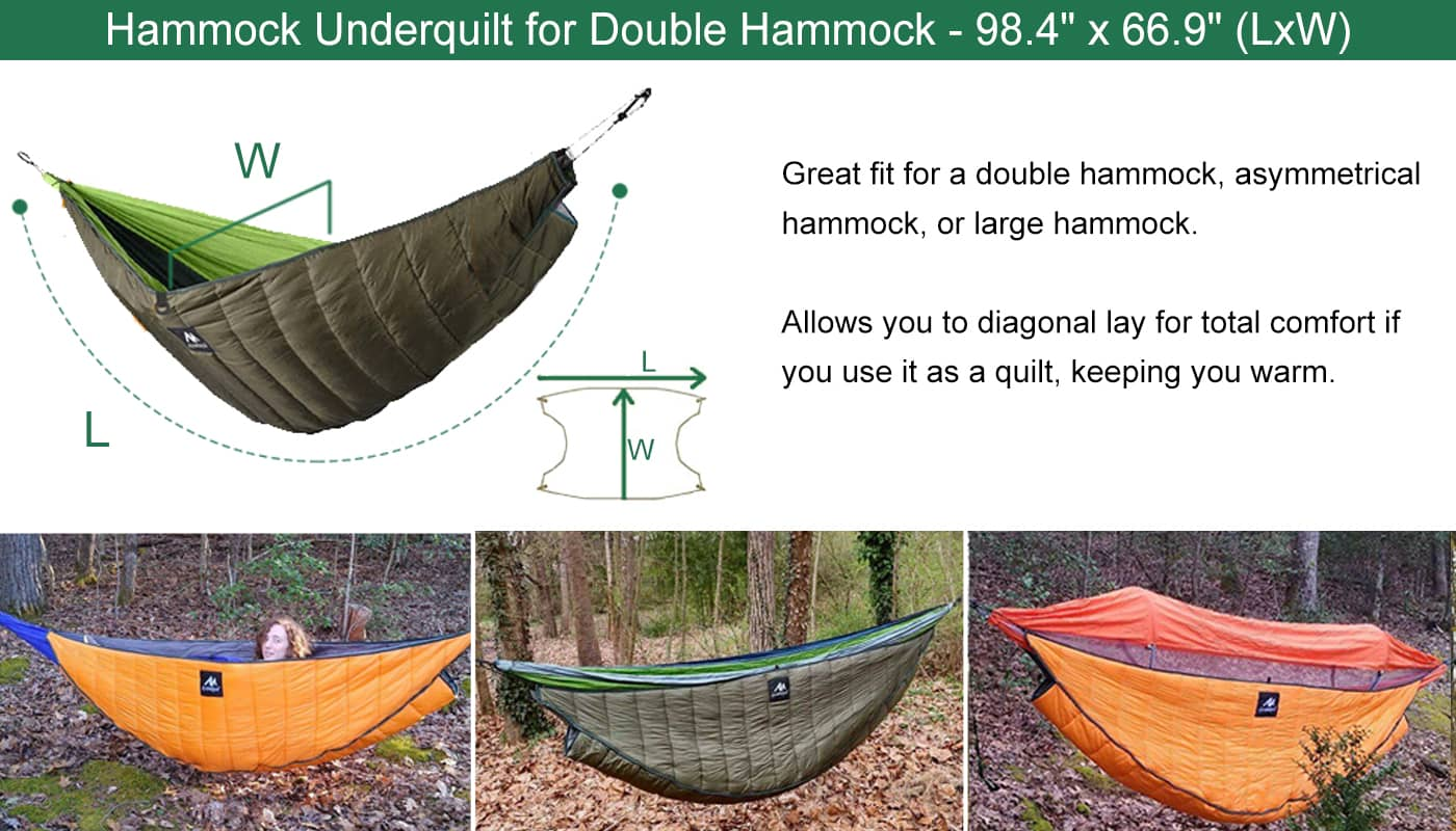 hammock underquilt size for double hammock 98*67 inches (L*W)