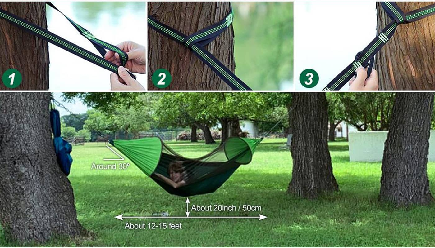 hammock size for 1-2 person and easy to set up and carry