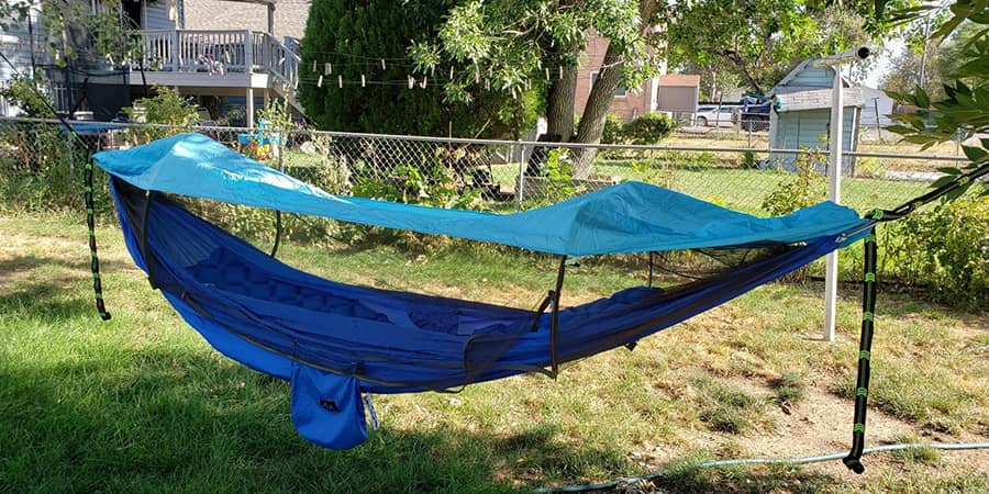 How to Sleep Warm in a Camping - ayamaya hammock with net and over cover