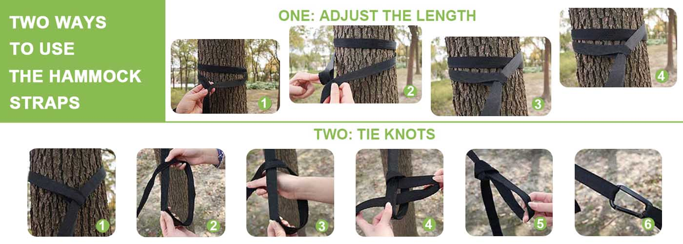 2 ways to use the hammock straps