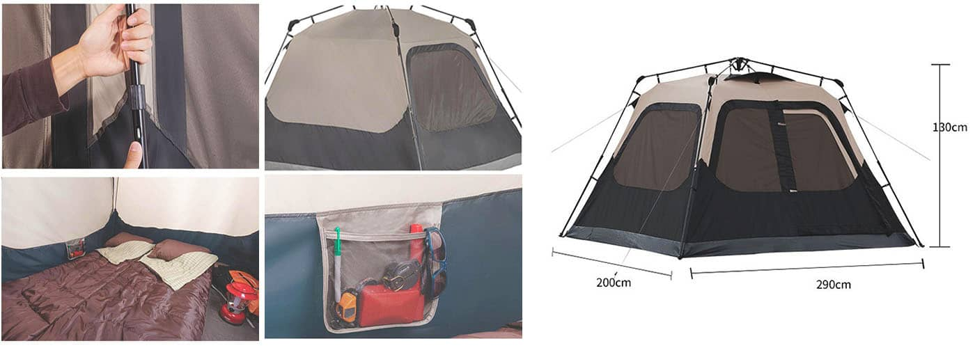 Large Canopy Tent for 6 Person