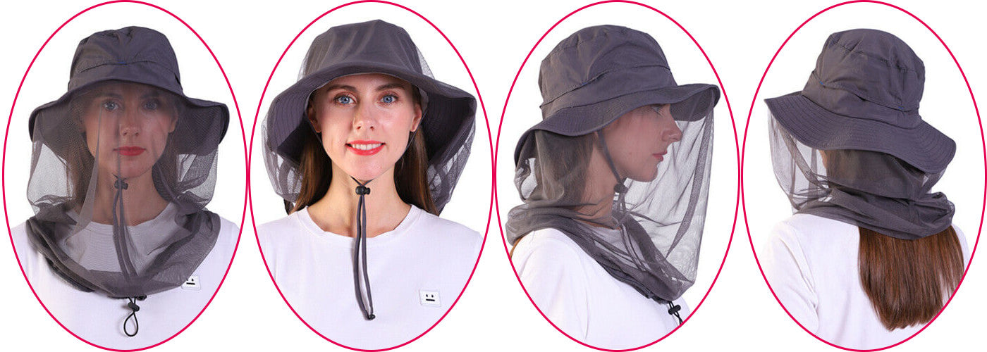 Mosquito Head Net Hat