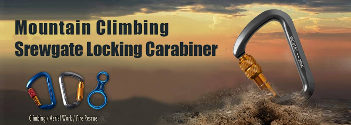 D shape climbing carabiner can easily connect the harness and protective tools fixed on the force position of the major axis.