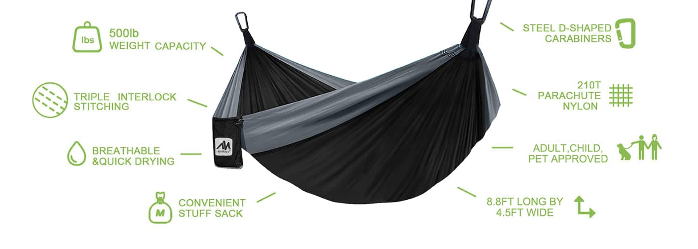 hammock with tree straps easy to use