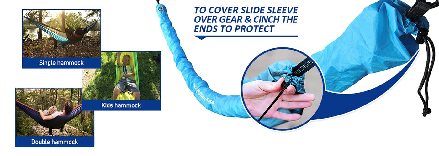to cover slide sleeve over gear & cinch the ends to protect