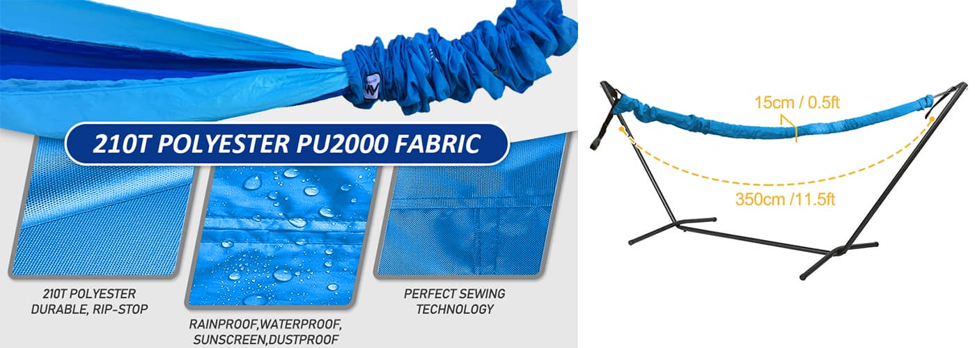 210T Polyester Fabric - Rip-stop & Waterproof